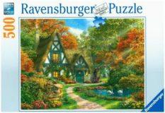 Ravensburger Puzzle 500 – Cottage im Herbst