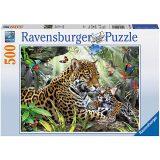 Ravensburger Puzzle 500 – Jaguar Nachwuchs