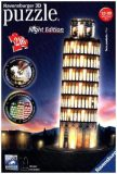 3D Puzzle Schiefer Turm von Pisa bei Nacht