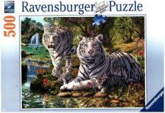 Ravensburger Puzzle 500 – Weiße Raubkatze